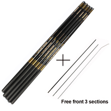 Goture Carp Fishing Rod Carbon Fiber Ultra-light Hand Stream Pole with Free Front 3 Sections Telescopic 3.6-7.2M