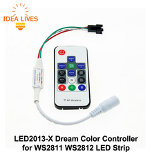 LED2013-X Wireless RF LED RGB Controller DC5V/12V 14 Key RGB 300 Kinds of Changes Effects for WS2812B WS2811 LED Strip.