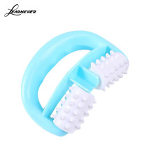 mini handheld body anti cellulite massage cell roller massager creeper wheel ball foot hand body neck head pain reliefHT0190