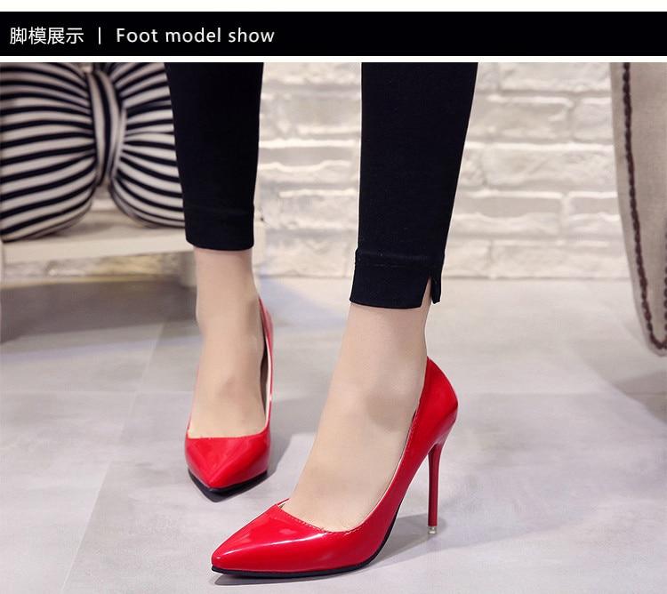 2018 CHAUDE Femmes Chaussures Bout Pointu Pompes En Cuir 11
