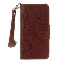 For Iphone 7 CASE New Fashion Luxury Brown Bowknot Printed Leather CASE For Iphone 6 6plus 6S 6Splus 7 7plus Back Cover(China)