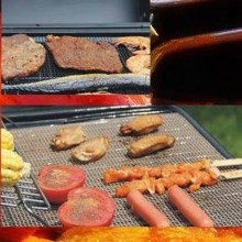 1pcs Outdoor Picnic Reusable Non-stick Surface BBQ Grill Mat Baking Sheet Hot Plate Easy Clean Grilling P50(China)