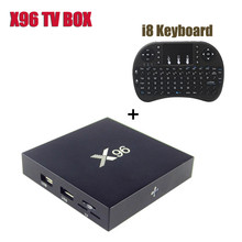 4K Smart TV Box X96 Android 6.0 Amlogic S905X Quad Core Media Player with i8 Keyboard Full HD H.265 2.4GHz Wifi HDMI 2.0 TV Box