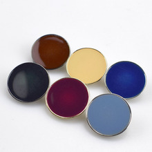 A022 Color Metal Buttons 10pcs Solid for Clothing Women Men Overcoat Clothes Sewing Button Botones Diy Accessories Crafts Gift(China)