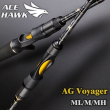 AG voyager spinning baitcasting fishing rod 4 sections travel rod ML M MH 1.8 2.1 2.4 2.7m carbon fishing rod F MF action(China)