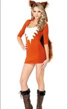 New Arrival Halloween Foxy Costume Sexy Costumes For Adults 3S1141 Free Shipping Fur Animal Cosplay Costumes(China)