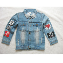 Clearance High Quality Stock Autumn Boys Coat Kids Denim Jacket Girls Overcoat Winter Coat Boys Jacket For Kids(China)