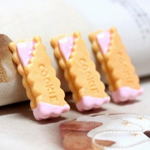 100pcs/lot Flat Back Lovely Cookie Charm Jewelry Fit Mobile Phone Hairpin Headwear DIY Accessories 11x30mm