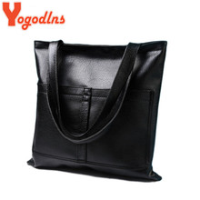 Yogodlns European American retro big shopping packet silver gold color women bags polished leather handbag women shoulder bag