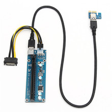 Stable Version 4pcs PCI Express Extender Riser Card PCI-E 1X To 16X USB 3.0 To Extension Power Cable For ETH GPU Miner Machine