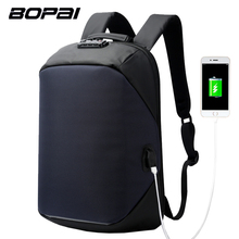 BOPAI Laptop Backpack External USB Charge Computer Coded Lock Backpacks Anti-theft Waterproof Bags for Men Women Drop Shipping(China)
