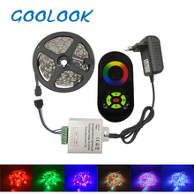 Goolook Led Strip Light SMD 2835 3528 RGB Led Tape Waterproof Diode LED Ribbon RGB Strip Flexible For Home Decoration full set