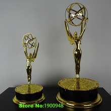 Zinc Alloy Emmy Trophy1:1 replica 39cm Hight Emmy Award Trophy Replica TV Trophy Zinc Alloy Souvenirs Collectibles Nice Gift(China)