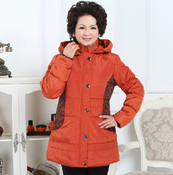 2014 quinquagenarian womens winter wadded jacket fashion mother clothing with a hood cotton-padded jacket / XXL -4LОдежда и ак�е��уары<br><br><br>Aliexpress