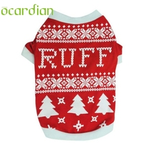 Ocardian Christmas Dog hoodies Puppy Dog Christmas Tree Interlock Shirt Apparel Warm Winter dogs Clothes u6913