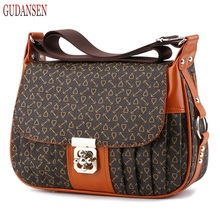 GUDANSEN 2017 Mother Handbag Brand Designer Women's Handbag Portable One Shoulder Bus Bags Messenger Bag Female A812