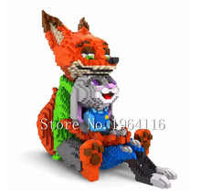 New Creator series the Judy Hopps Figure Model nano block Building Block set classic Zootopia Nick Wilde Toys for children