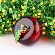 U.TECH Red 3D Crystal Paperweight Glaze Apple Figurine Glass Wedding Decoration Gifts Free Shipping(China)