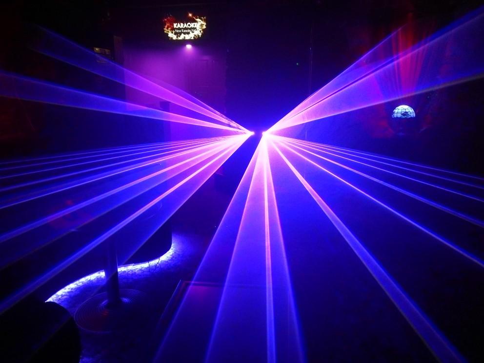 300mW 2 lens Blue 450nm-455nm Beam Laser Stage Light DMX Club Show DJ Bar Party Lighting Laser Lighting DMX DJ Show (8)