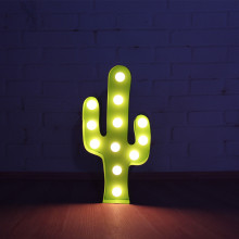 12inch green metal plant lightning cactus LED Marquee Sign LIGHT UP night light wall lamps child's room Deration(China)