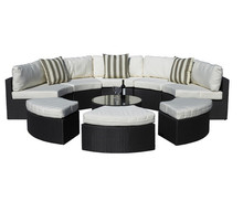 Sigma Garden Furniture Synthetic Rattan Set 9-Piece Outdoor Daybed