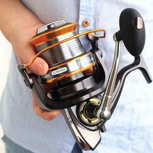 5000-9000 Size 12+1 Ball Bearings Big Trolling Fishing Reels Feeder Metal Fishing Reel Carp Carretilha de pesca molinete Shimano