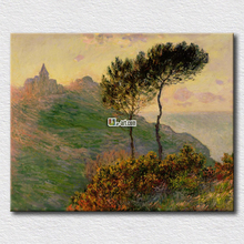 Monet oil painting the church at Varengeville canvas prints masterpieces wall paintings for home decoration(China)