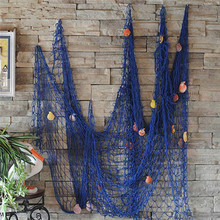 Mediterranean style Home Decoration Nautical Decorative 1M x 2M Fishing Net Sea Beach Shell Party Door Wall Ornaments Decoration(China)