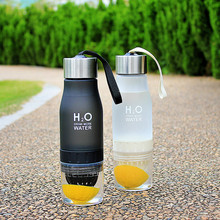 Xmas Gift 650ml My Water Bottle H2O Plastic Fruit Infusion Bottle Infuser Drink Outdoor Sports Juice lemon Portable Water Bootl