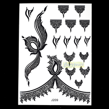 1pc Popular Flash Tattoo BJ209 Airbrush Temporary Tattoos Chest Body Art  Black Color Fake Waterproof  Tattoo Stickers Ink Cover