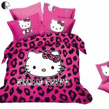 Free Shipping Hello Kitty Bedding Set Children kids Bed sheets Duvet Cover Linens Qulit Pillowcase set 1.5-1.8m bed 4pcs HBS105