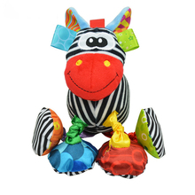 Sozzy Baby Vibrated Plush Animal Zebra Toy Rattle Crinkle Sound 16cm Soft Stuffed Multicolor Multifunction Toy