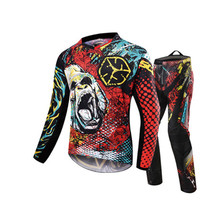 SCOYCO Motocross Off-Road MTB DH MX Racing Jersey + Hip Pads Pants + Motorcycle Clothes Set Motorcycle Dirt Bike Riding Clothing