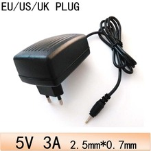 DC 5V 3A/3000mah AC Power Adapter Wall Charger With US EU UK AU 2.5mm*0.7mm Jack Plug For Android Tablet PC / MID / Ereader