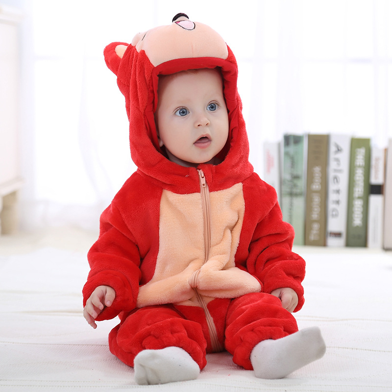 Winter Baby Girls Clothes Animal Panda Baby Rompers Newborn Costume Fleece Boys Clothes Warm Snowsuit Jumpsuit Cotton Coverall<br><br>Aliexpress