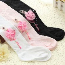 3-10 years girls pantyhose ballet styles kids girls children Tights cute dance lace girl velvet magic tights stockings for girls(China)