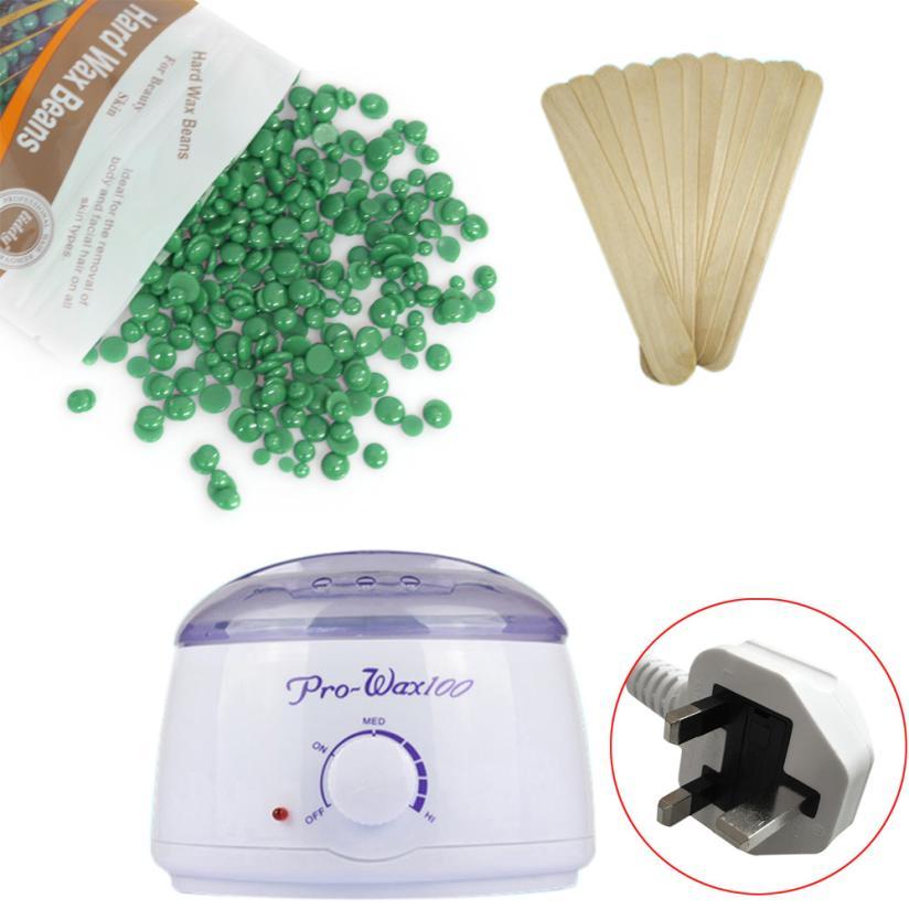 Liddy Tea Flavor 100g Hair Removal Hot Paraffin Wax Warmer Heater Pot Machine Depilatory Hard Wax Bean Depilatory Wax Machine<br>