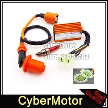 Racing Ignition Coil AC CDI For GY6 50cc 125cc 150cc Engine Scooter Moped Go Kart XR CRF 50 70 80 100 Dirt Pit Bike Motorcycle