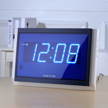 2017 NEW Big Watch Remote Control Large LED Digital Wall Clock Modern Design Home Decor  Snooze Alarm Clocks  318* 186* 27mm