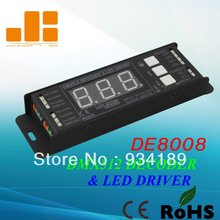 Free Shipping DMX Decoder & LED Driver 3 Channels LED RGB Controller DC12-24V Constant Voltage Single CH PWM <4A Model:DE8008(China)