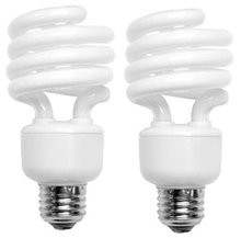 68923DL2 CFL Mini Spring A Lamp - 100 Watt Equivalent (only 23W used) Daylight (5000K) Spiral Light Bulb - 2 pack(China)