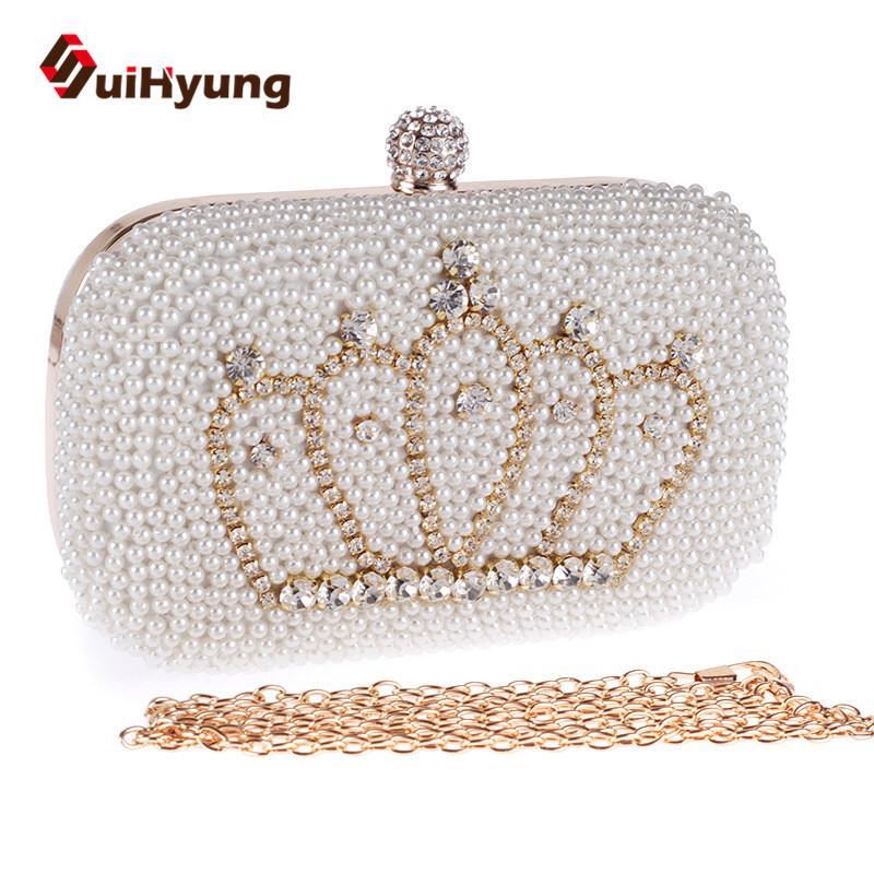 Womens Bag New Fashion Design Party Evening Bags Beaded Diamond Clutch Bag Crystal Small Clutch Purse Glitter Leather Handbags<br><br>Aliexpress