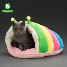 KIMHOME New Cute Winter Warm Soft Dog House Kennels Cat Bed Sofa For Small Dog Puppy Cat(China)