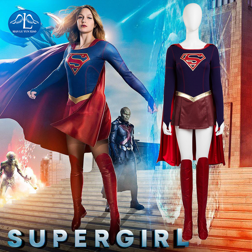New Supergirl Costume Superhero Series Superwoman Cosplay Costume Women Fancy Dress Halloween Costumes For Adult Women Customize