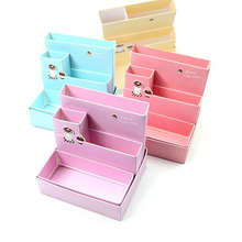 DIY Paper Board Storage Box Desk Decor Stationery Makeup Cosmetic Organizer New Home Household Storage Helper Gifts for Kids