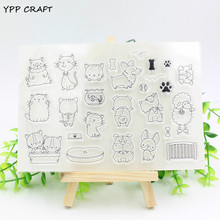 YPP CRAFT Dog and Cat Family Transparent Clear Silicone Stamp/Seal for DIY scrapbooking/photo album Decorative clear stamp