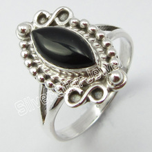 Silver BLACK ONYX Fashion Ring Size 6 ! Jewelry for Her