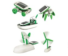 6 in 1 Creative DIY Education Learning Power Solar Robot Kit Children Toys Gift