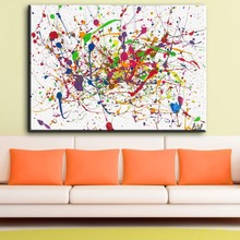 ZZ1862 Jackson Pollock Classic Abstract Art Canvas Print Painting Poster, Wall Pictures For Living Room, Home Decor