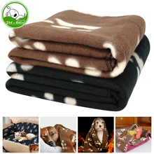 Soft Fleece Puppy Dog Sleep Blanket Cat Thick Warm Blankets Pet House Sleeping Bed Mat Pad Kennel With Paw Print For Dogs Cats(China)